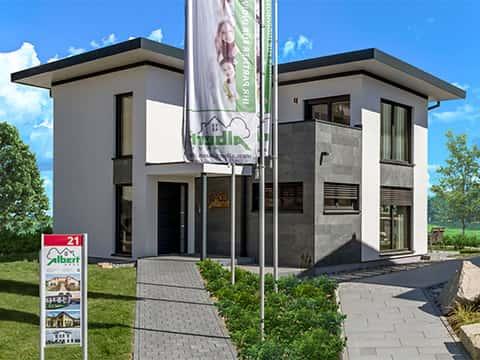 Musterhaus Fellbach - Elegant 168 - Außenansicht
