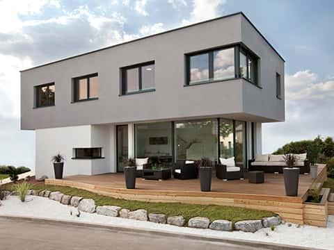 Musterhaus KUBOS 1.1500 - Außenansicht